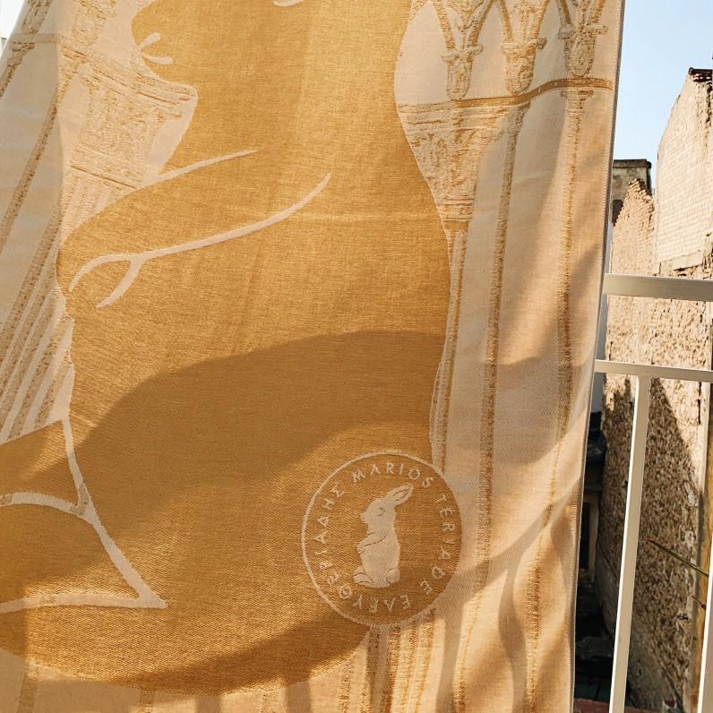"""Gold Rabbit"" towel"