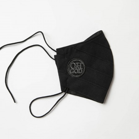 Cotton face mask with central...